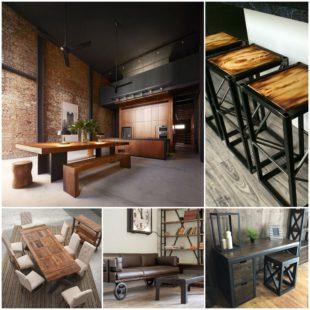 Модная мебель в стиле лофт - модный тренд в мире дизайна интерьеров