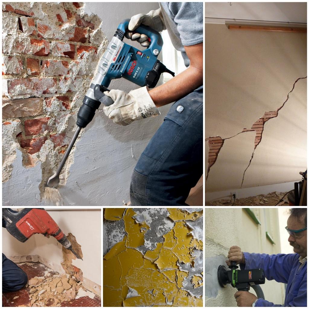 Как снять штукатурку со стены - советы по стройке