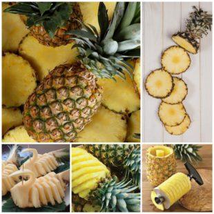 Как нарезать ананас - кухонный лайфхак