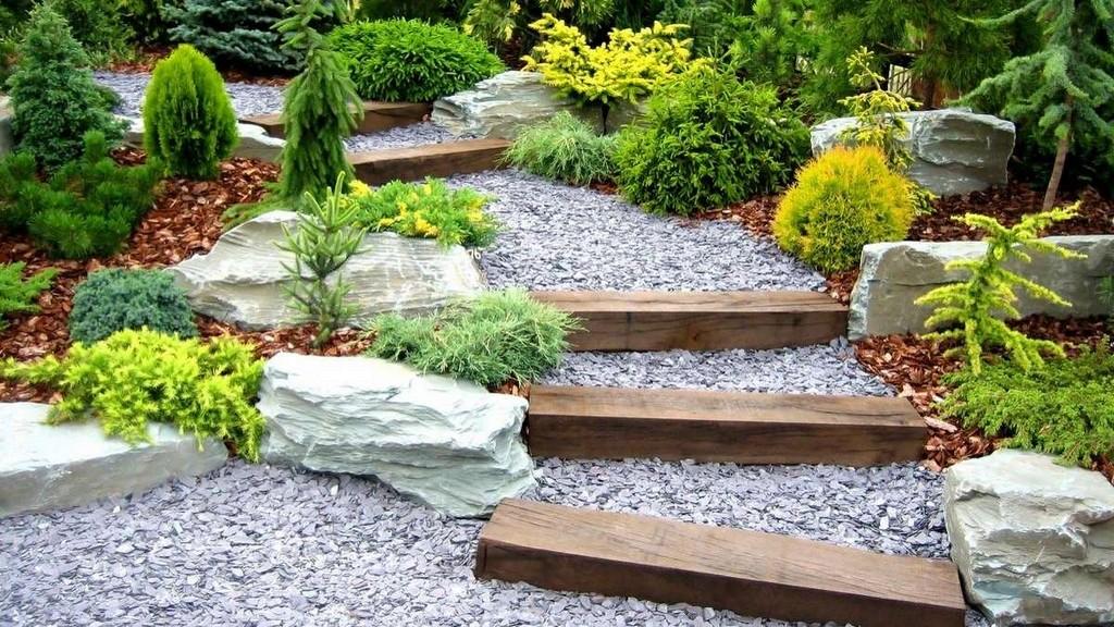 Комбинированные садовые тропинки