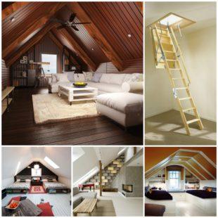 Мансарда в доме – красивое и романтичное место для творческих идей и отдыха