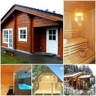 Проекты деревянных бань из бруса и из бревен