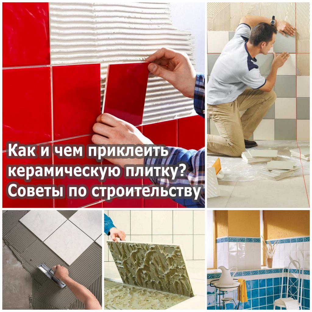 Как и чем приклеить керамическую плитку? Советы по строительству