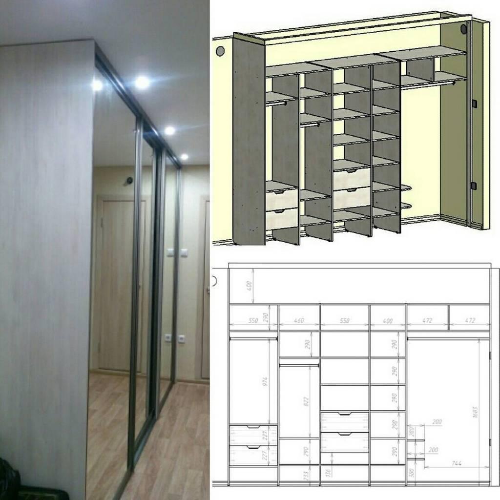 Планируем конструкцию и варианты наполнения шкафа-купе