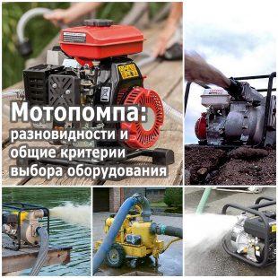 Мотопомпа разновидности и общие критерии выбора оборудования