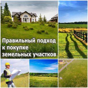 Правильный подход к покупке земельных участков