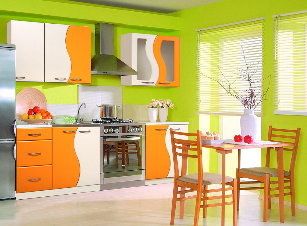 Размер и цвет мебели для кухни