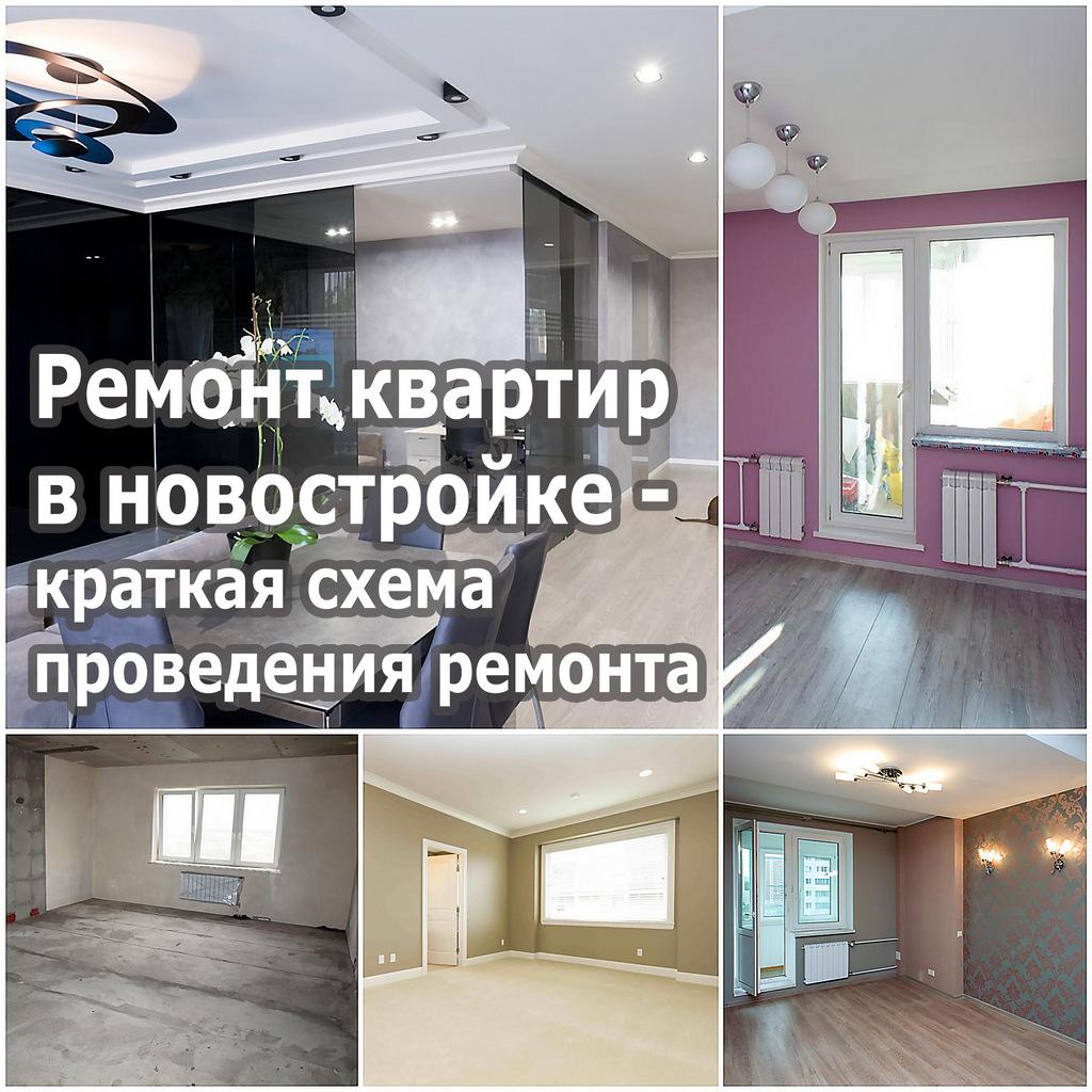 Ремонт квартир в новостройке - краткая схема проведения ремонта