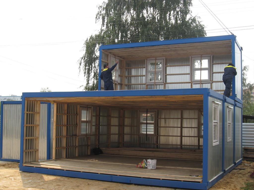 Сборно разборные модульные здания с окнами ПВХ