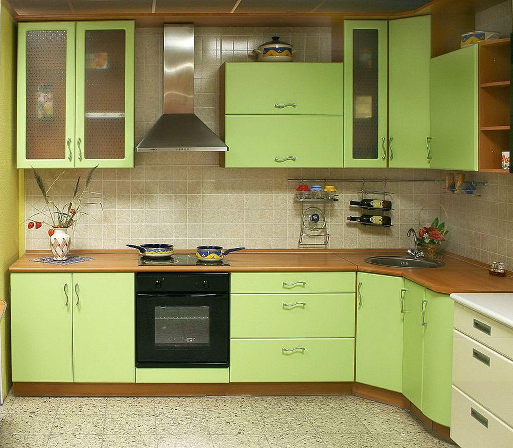 Кухни с нанесением пленки ПВХ