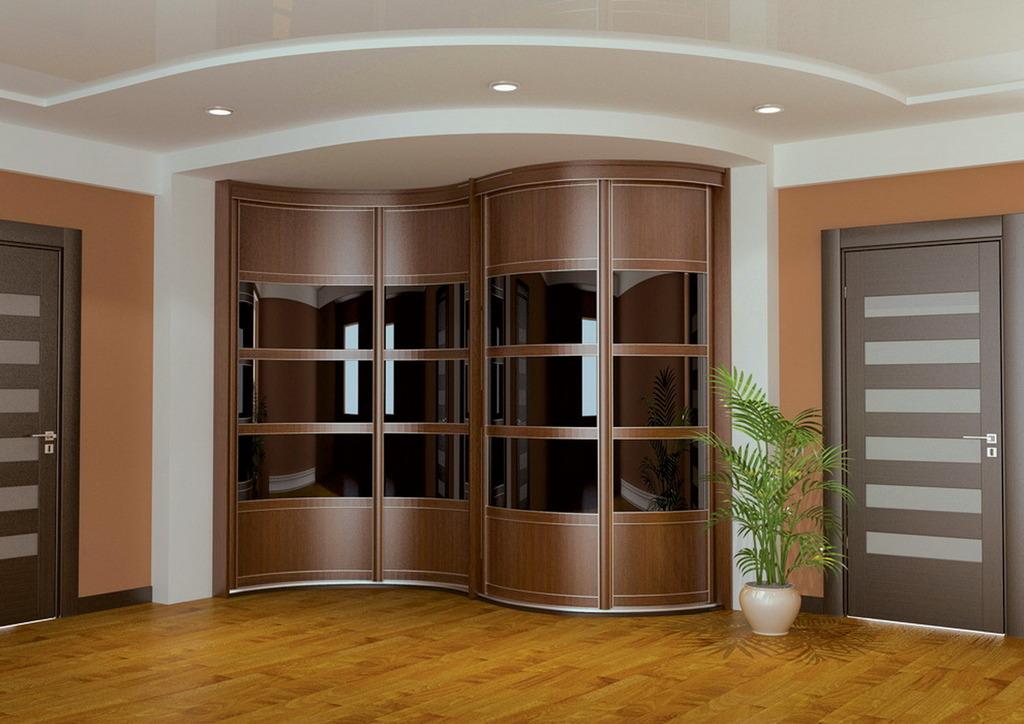 Основные разновидности радиусных шкафов-купе