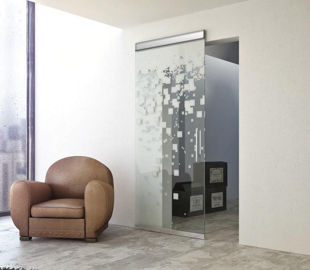 Оформление стеклянных дверей