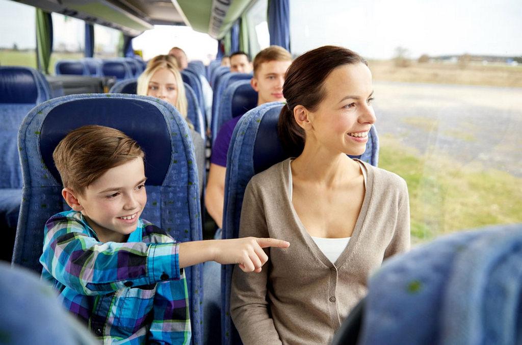 Отправляемся в путь с детьми на автобусе