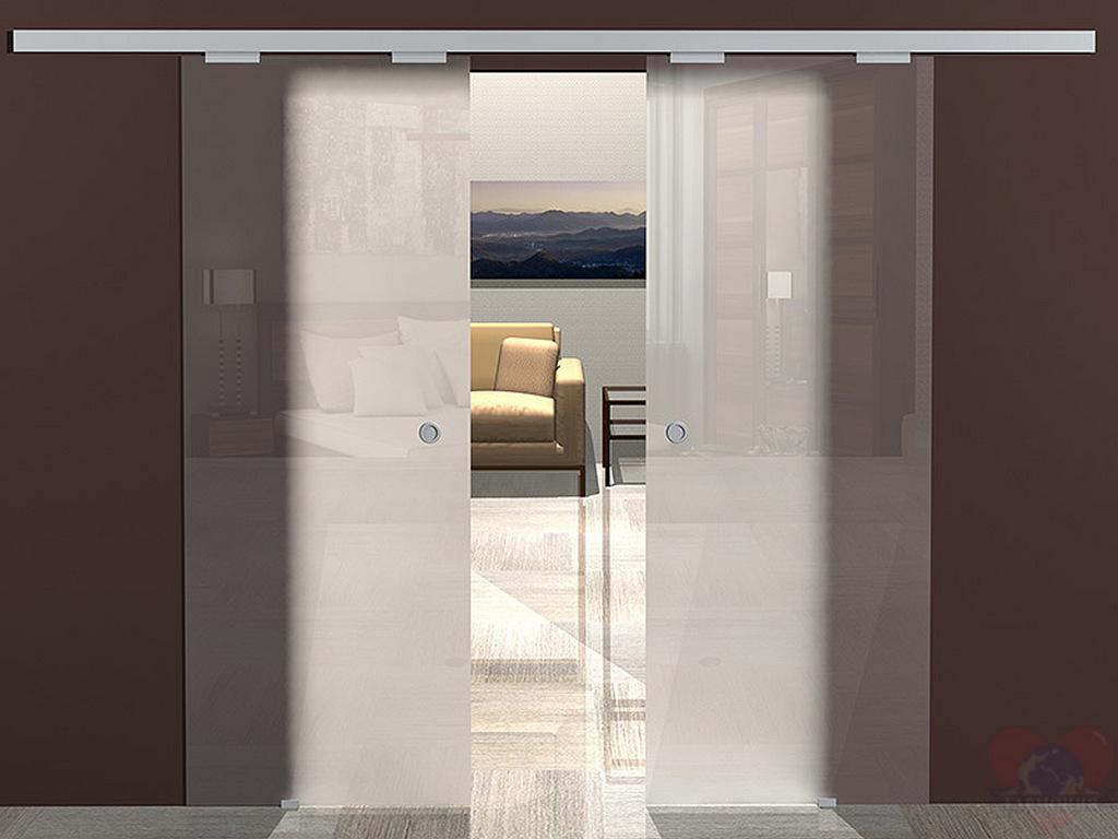 Раздвижные модели стеклянных дверей