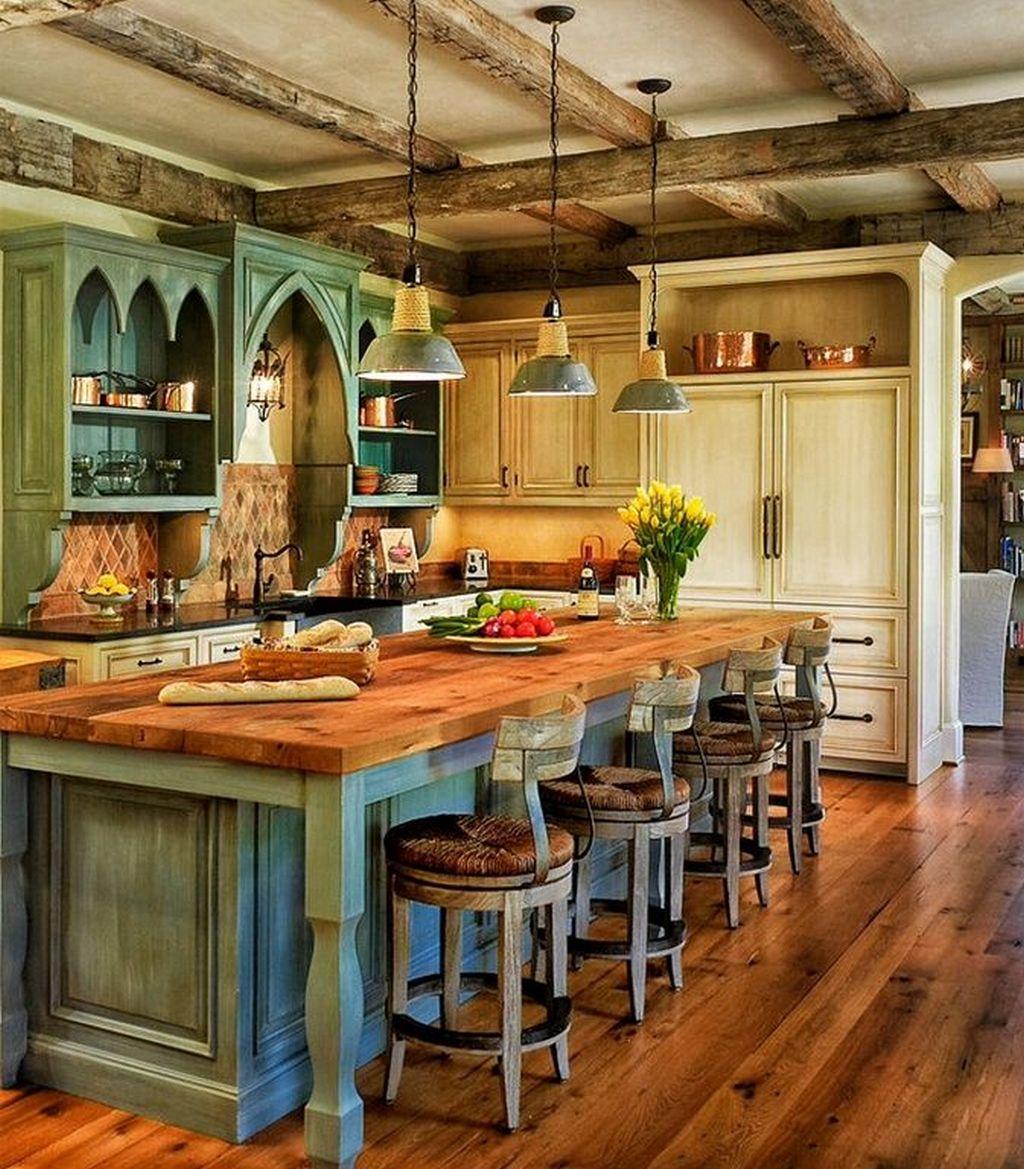 Цвет стиля кантри в интерьере кухни