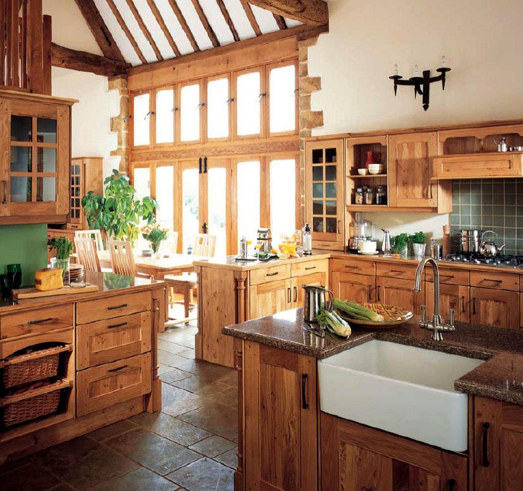 Выбираем мебель под стиль кантри на кухне