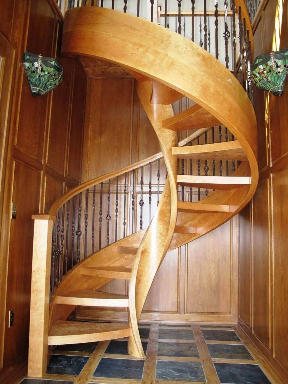 Винтовые деревянные лестницы 2