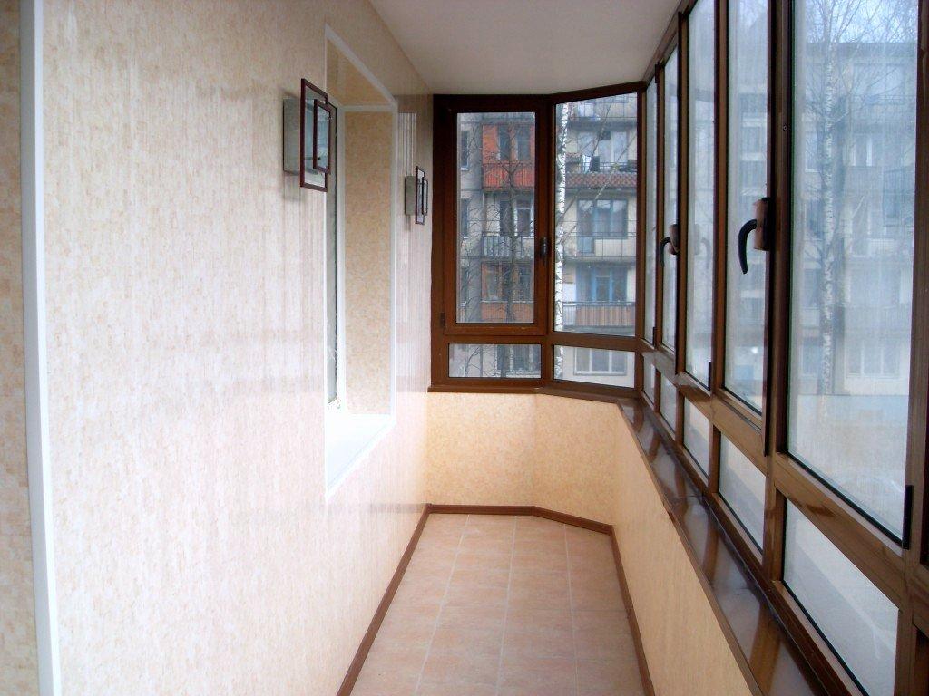 Используем вагонку для отделки балкона
