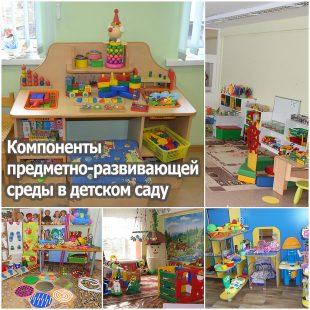 Компоненты предметно-развивающей среды в детском саду