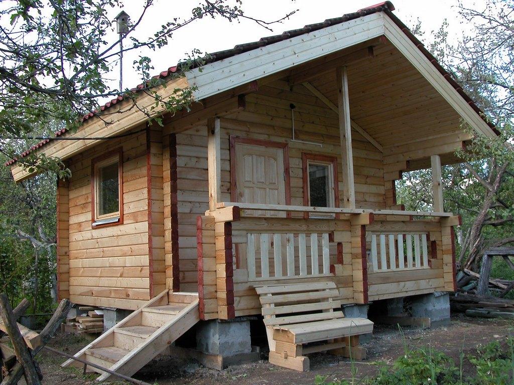 Строительство крыши для бани