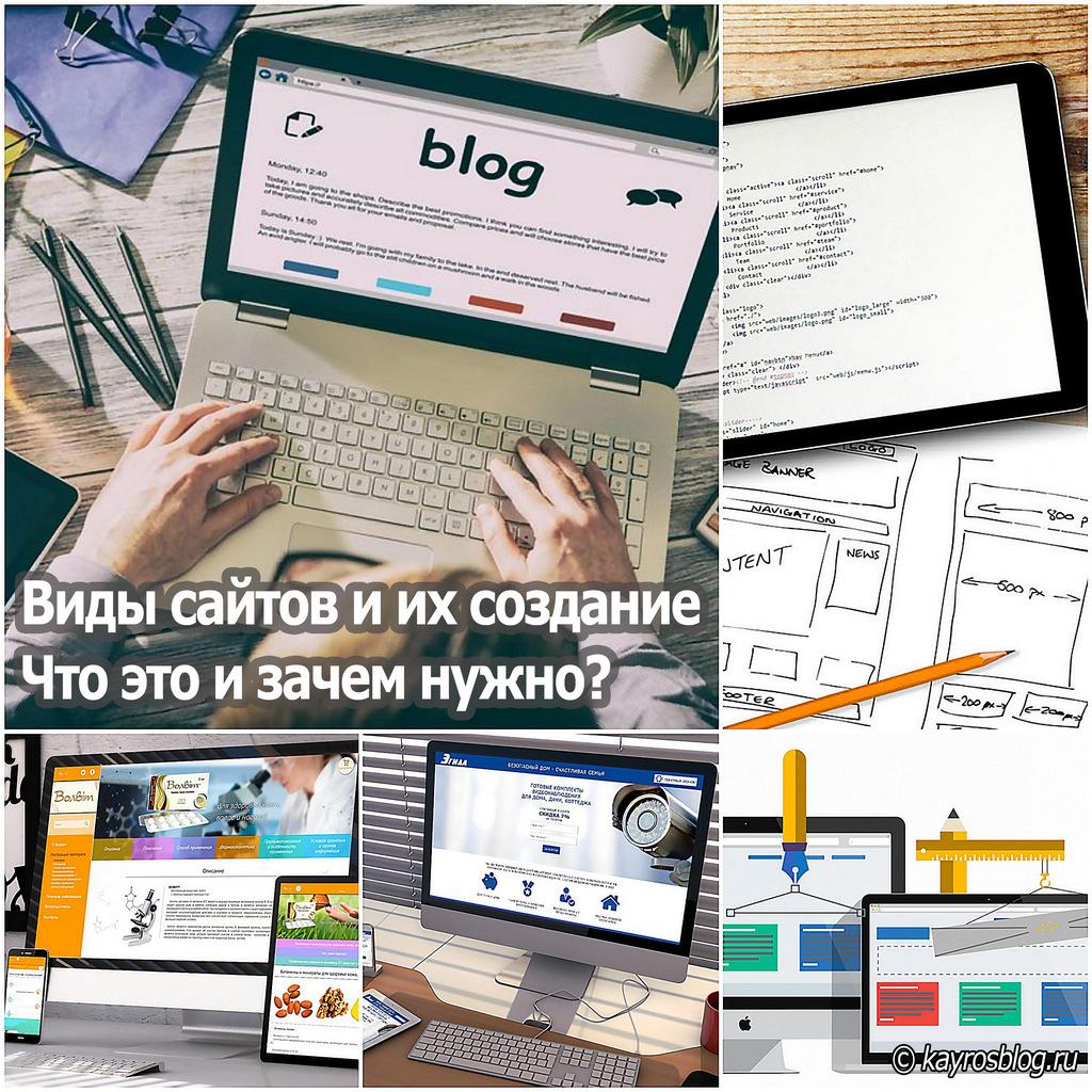Виды сайтов и их создание. Что это и зачем нужно