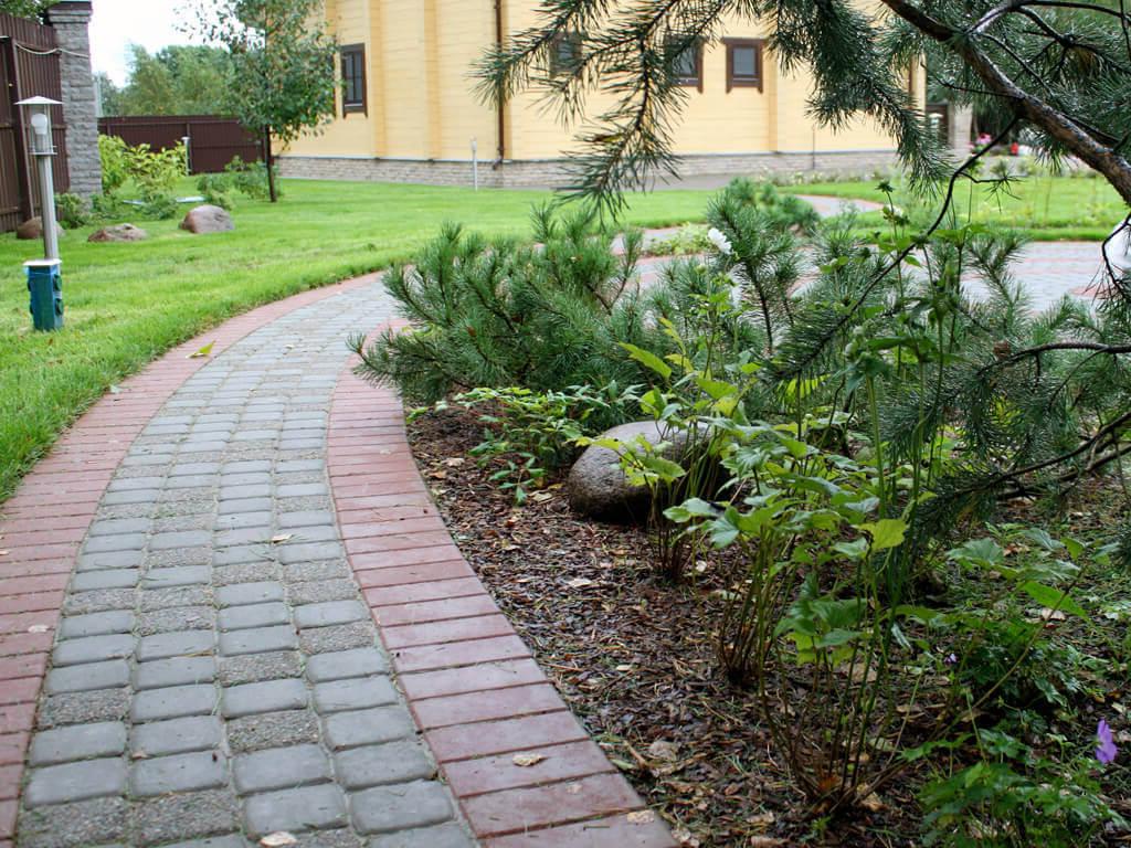 Как сделать мощение дорожек в саду