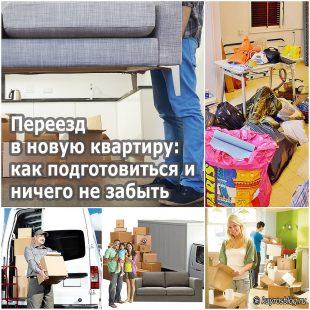 Переезд в новую квартиру как подготовиться и ничего не забыть
