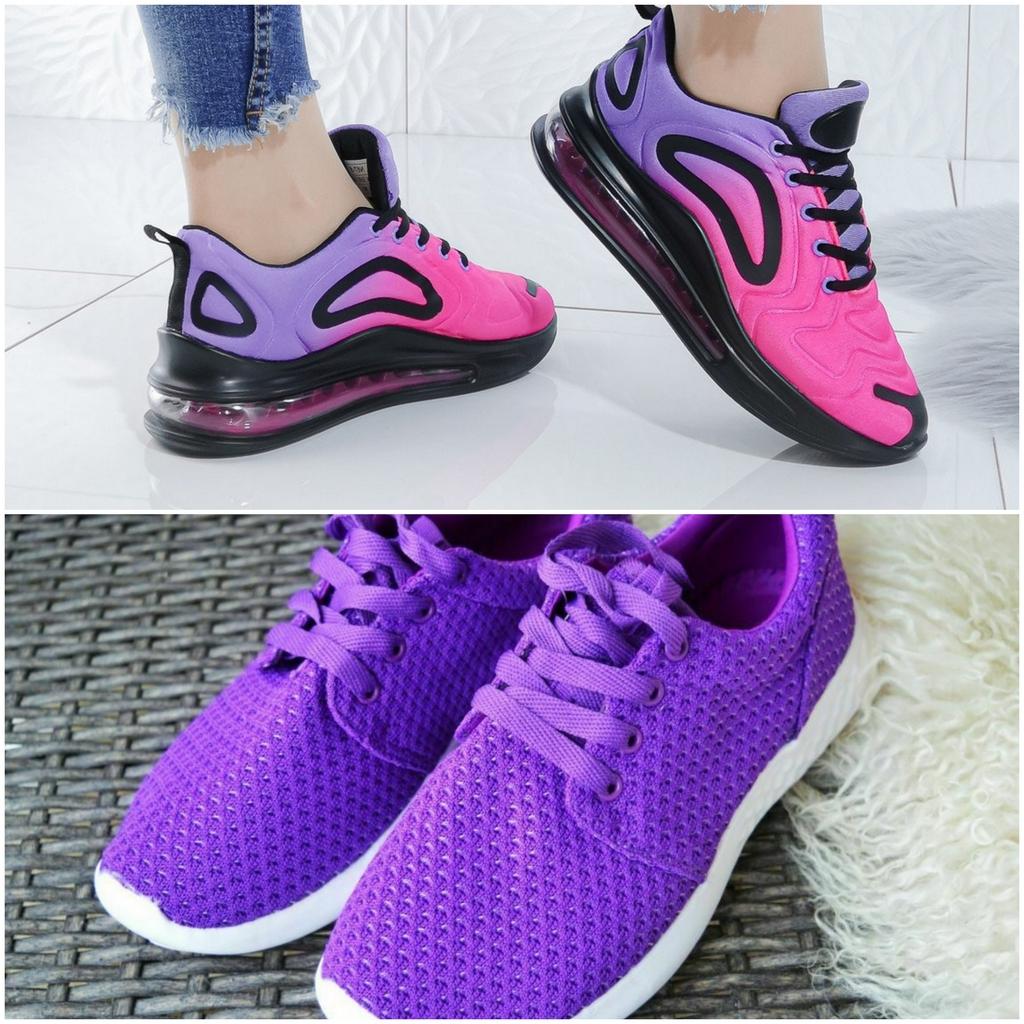 Фиолетовый цвет обуви