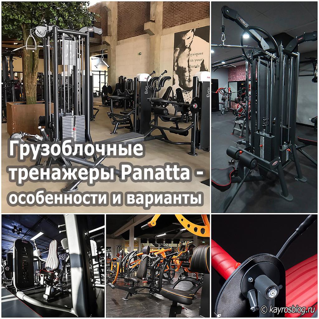Грузоблочные тренажеры Panatta - особенности и варианты