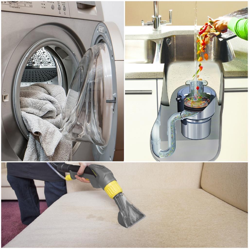 Измельчитель пищевых отходов Стиральная машина-автомат Моющий пылесос