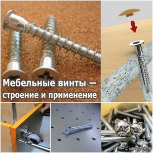 Мебельные винты — строение и применение