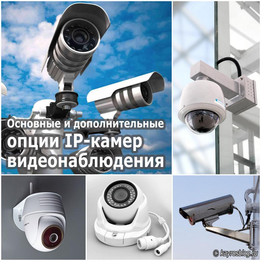 Основные и дополнительные опции IP-камер видеонаблюдения