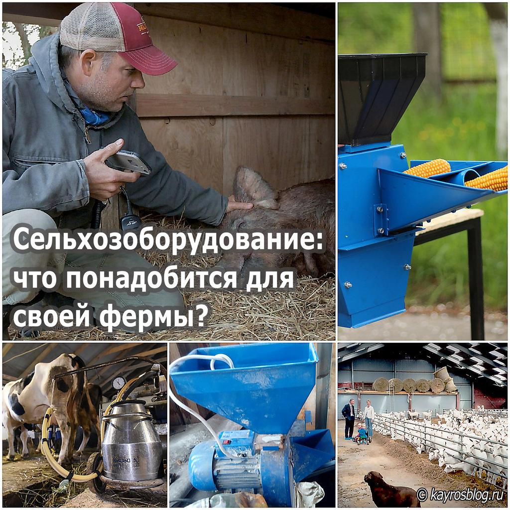 Сельхозоборудование: что понадобится для своей фермы?