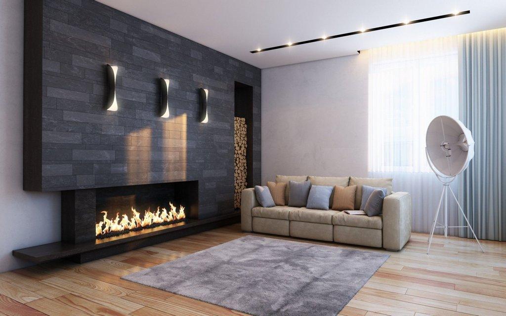 Современные светильники-бра для гостиной