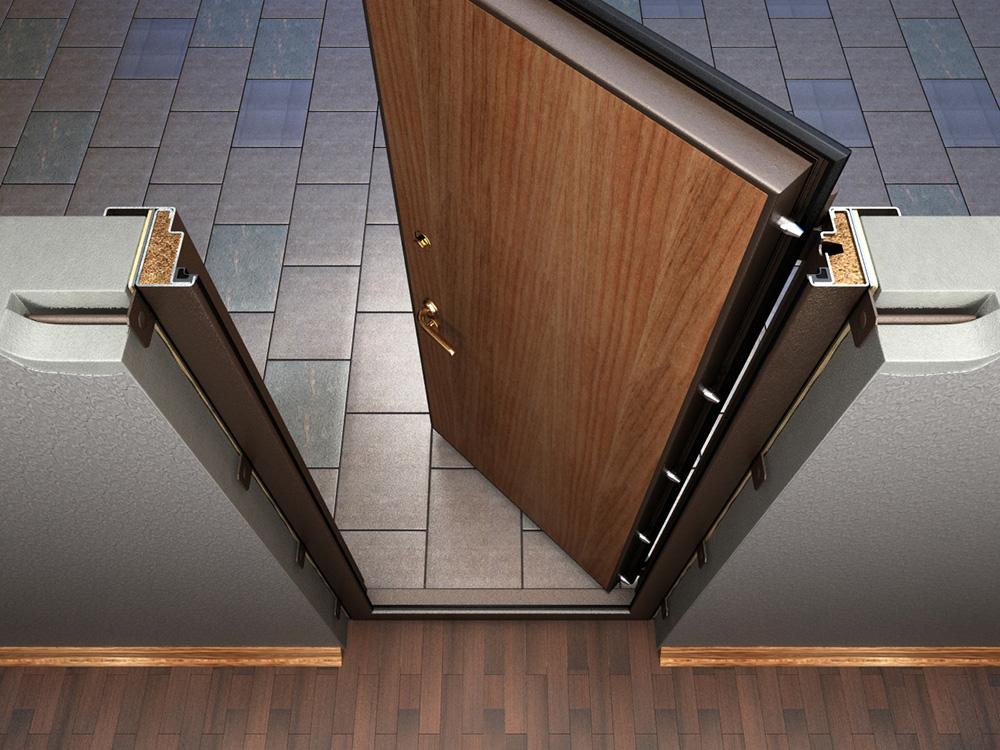 входная металлическая утепленная дверь