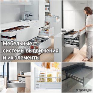 Мебельные системы выдвижения и их элементы