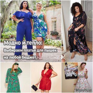 Модно и тепло Выбираем платья для пышек на любой бюджет