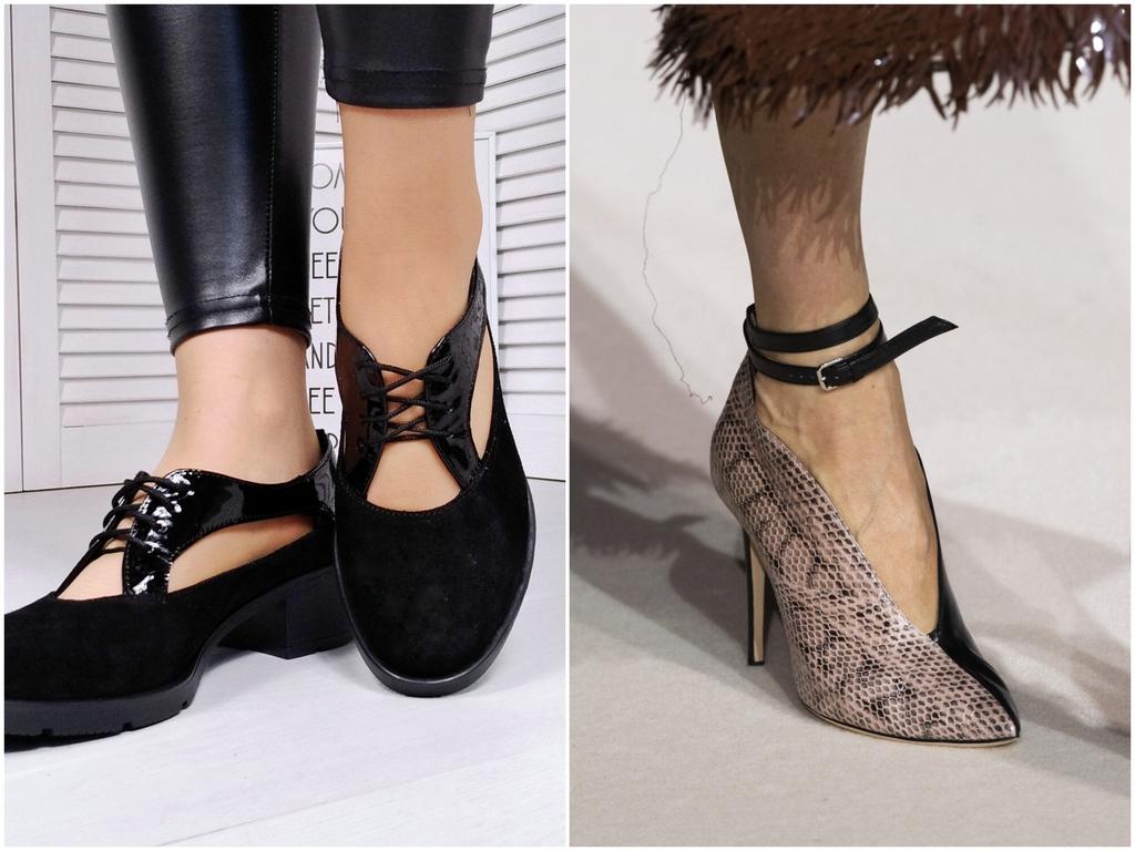 Обувь с вырезом