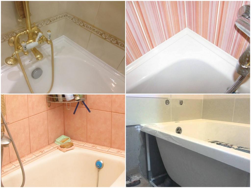 Укладывание плитки от ванны