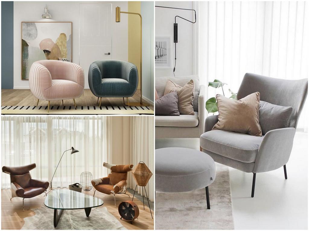 Внешний вид кресла ткань и форма