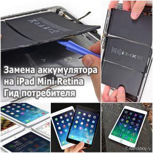 Замена аккумулятора на iPad Mini Retina. Гид потребителя