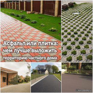 Асфальт или плитка чем лучше выложить территорию частного дома