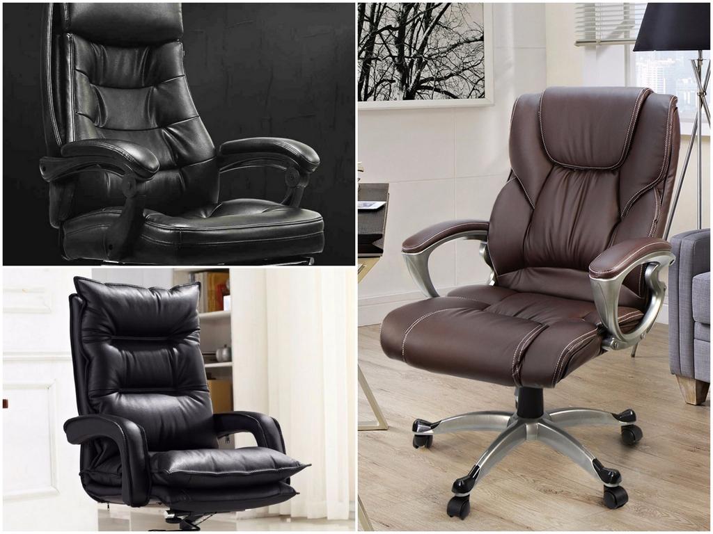 Эргономичное кожаное кресло руководителя