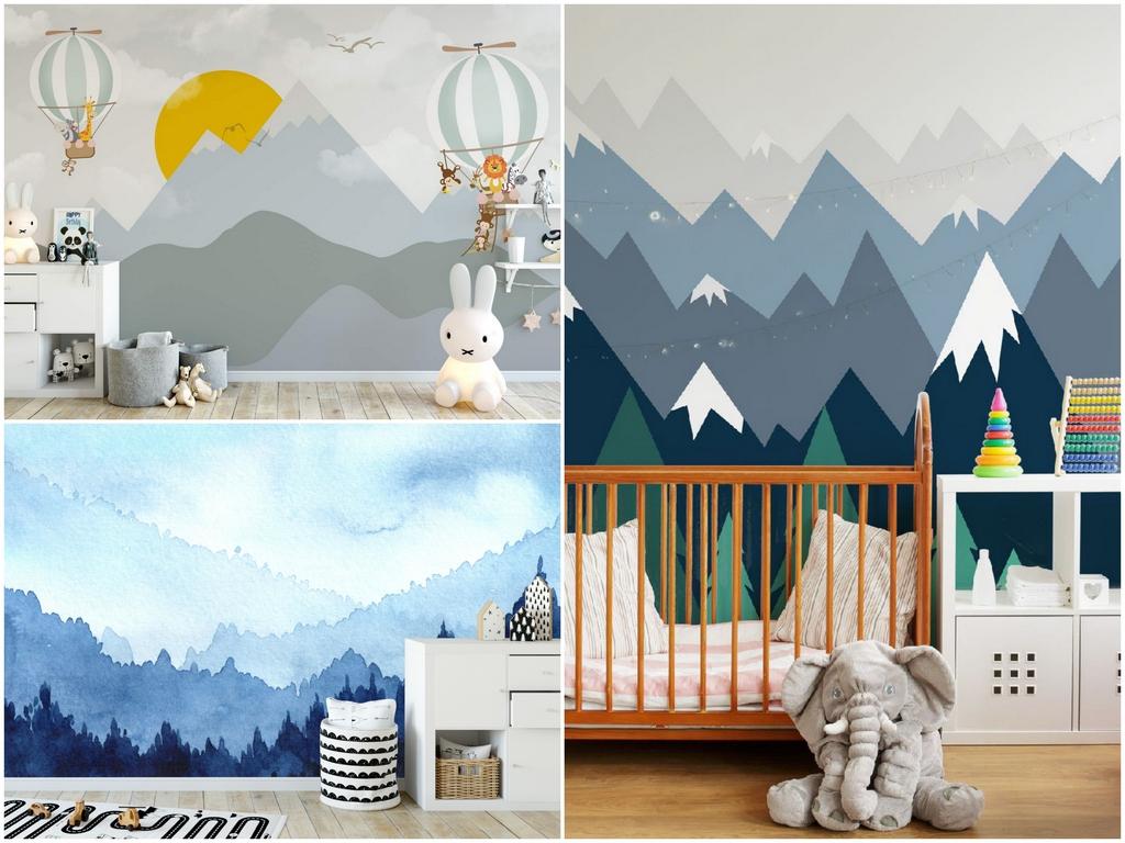 Какие обои с горами подойдут для детской комнаты
