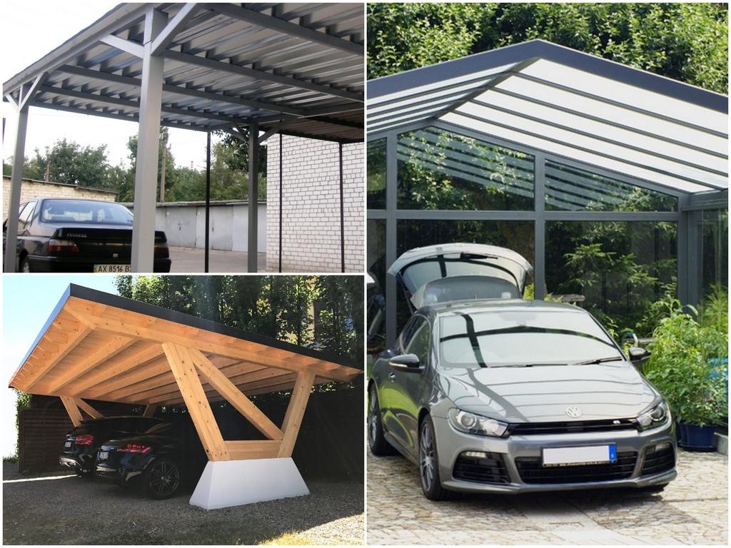 Каркас и крыша из алюминиевого листа