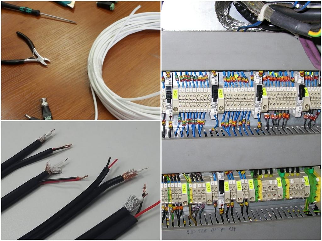 Ключевые типы кабелей, предназначенных для видеонаблюдения