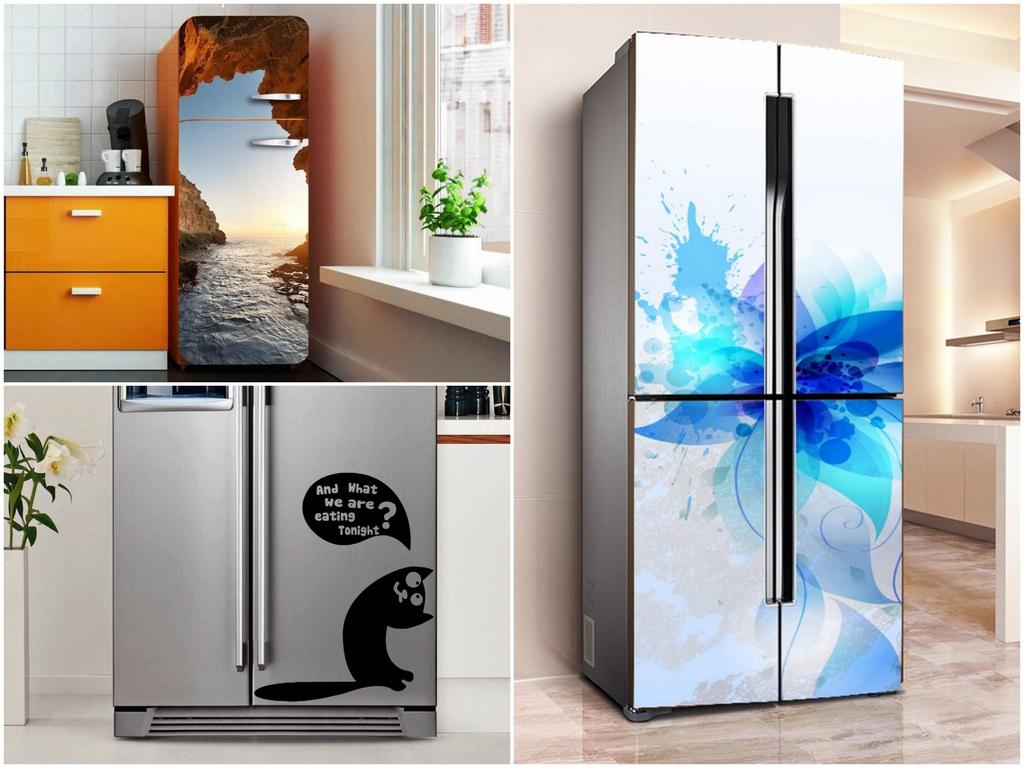 Меняем дизайн старого холодильника