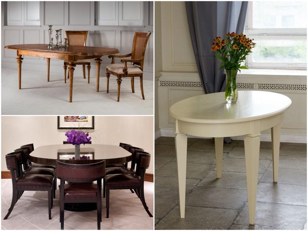Преимущества овальных столов в интерьере