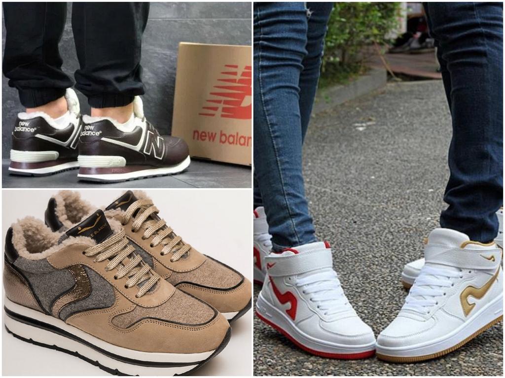 Утепленные модные кроссовки 2020