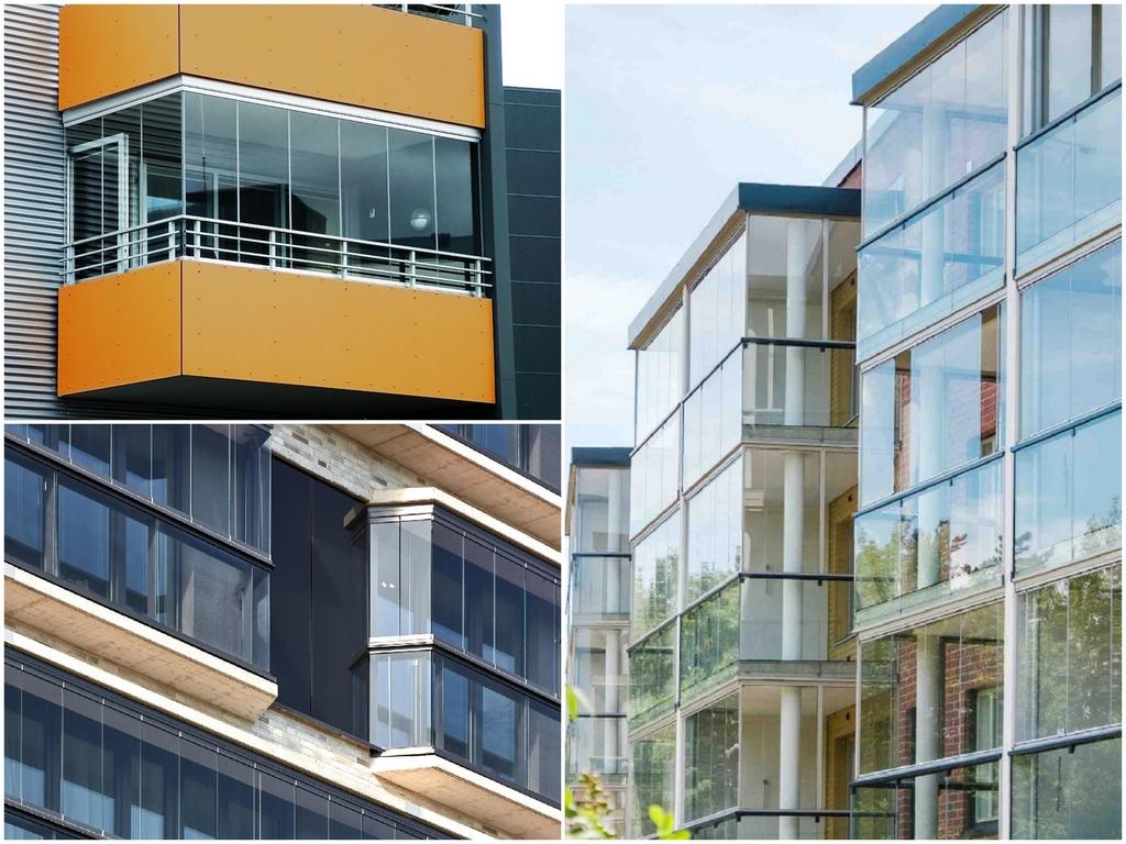 Варианты конструкций остекления балкона